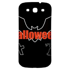 Halloween Bat Black Night Sinister Ghost Samsung Galaxy S3 S Iii Classic Hardshell Back Case by Alisyart