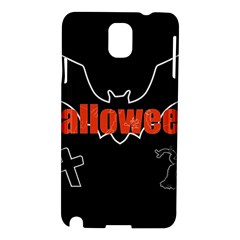 Halloween Bat Black Night Sinister Ghost Samsung Galaxy Note 3 N9005 Hardshell Case by Alisyart