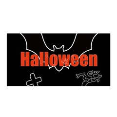Halloween Bat Black Night Sinister Ghost Satin Wrap by Alisyart