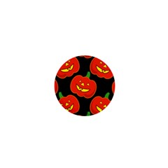 Halloween Party Pumpkins Face Smile Ghost Orange Black 1  Mini Magnets by Alisyart