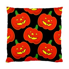 Halloween Party Pumpkins Face Smile Ghost Orange Black Standard Cushion Case (two Sides) by Alisyart