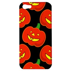 Halloween Party Pumpkins Face Smile Ghost Orange Black Apple Iphone 5 Hardshell Case by Alisyart