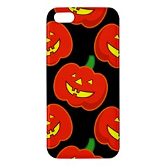 Halloween Party Pumpkins Face Smile Ghost Orange Black Iphone 5s/ Se Premium Hardshell Case by Alisyart
