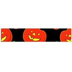 Halloween Party Pumpkins Face Smile Ghost Orange Black Large Flano Scarf  by Alisyart