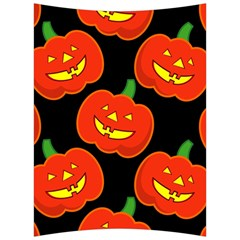 Halloween Party Pumpkins Face Smile Ghost Orange Black Back Support Cushion by Alisyart