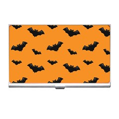 Halloween Bat Animals Night Orange Business Card Holders by Alisyart