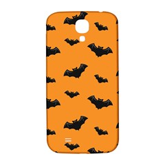 Halloween Bat Animals Night Orange Samsung Galaxy S4 I9500/i9505  Hardshell Back Case by Alisyart