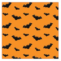 Halloween Bat Animals Night Orange Large Satin Scarf (square) by Alisyart