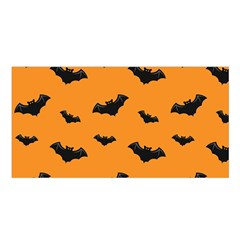 Halloween Bat Animals Night Orange Satin Shawl by Alisyart