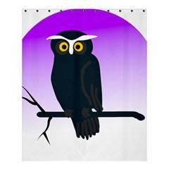 Halloween Owl Bird Animals Night Shower Curtain 60  X 72  (medium)  by Alisyart