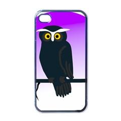 Halloween Owl Bird Animals Night Apple Iphone 4 Case (black) by Alisyart