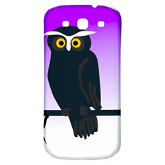 Halloween Owl Bird Animals Night Samsung Galaxy S3 S Iii Classic Hardshell Back Case by Alisyart
