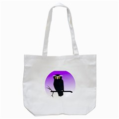 Halloween Owl Bird Animals Night Tote Bag (white) by Alisyart