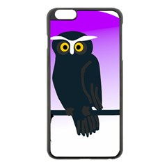 Halloween Owl Bird Animals Night Apple Iphone 6 Plus/6s Plus Black Enamel Case by Alisyart