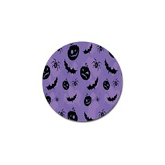 Halloween Pumpkin Bat Spider Purple Black Ghost Smile Golf Ball Marker (4 Pack) by Alisyart