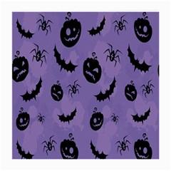 Halloween Pumpkin Bat Spider Purple Black Ghost Smile Medium Glasses Cloth (2 Side) by Alisyart
