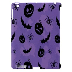 Halloween Pumpkin Bat Spider Purple Black Ghost Smile Apple Ipad 3/4 Hardshell Case (compatible With Smart Cover) by Alisyart