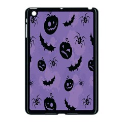 Halloween Pumpkin Bat Spider Purple Black Ghost Smile Apple Ipad Mini Case (black) by Alisyart