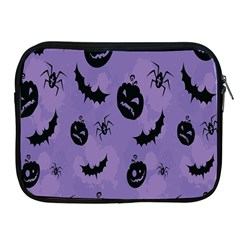 Halloween Pumpkin Bat Spider Purple Black Ghost Smile Apple Ipad 2/3/4 Zipper Cases by Alisyart
