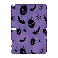 Halloween Pumpkin Bat Spider Purple Black Ghost Smile Galaxy Note 1 by Alisyart