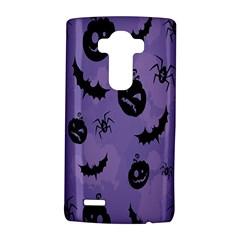 Halloween Pumpkin Bat Spider Purple Black Ghost Smile Lg G4 Hardshell Case by Alisyart
