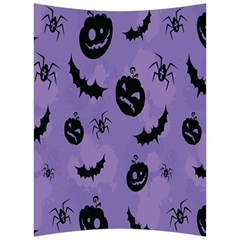 Halloween Pumpkin Bat Spider Purple Black Ghost Smile Back Support Cushion by Alisyart