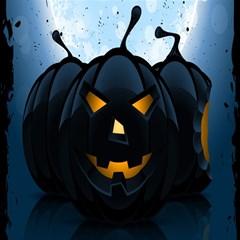 Halloween Pumpkin Dark Face Mask Smile Ghost Night Magic Photo Cubes by Alisyart
