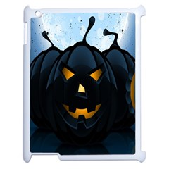Halloween Pumpkin Dark Face Mask Smile Ghost Night Apple Ipad 2 Case (white) by Alisyart