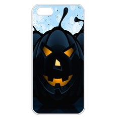 Halloween Pumpkin Dark Face Mask Smile Ghost Night Apple Iphone 5 Seamless Case (white) by Alisyart