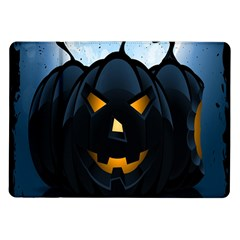 Halloween Pumpkin Dark Face Mask Smile Ghost Night Samsung Galaxy Tab 10 1  P7500 Flip Case by Alisyart