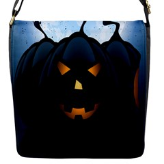 Halloween Pumpkin Dark Face Mask Smile Ghost Night Flap Messenger Bag (s) by Alisyart