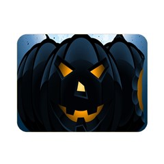 Halloween Pumpkin Dark Face Mask Smile Ghost Night Double Sided Flano Blanket (mini)  by Alisyart