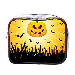 Halloween Pumpkin Bat Party Night Ghost Mini Toiletries Bags by Alisyart