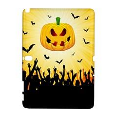 Halloween Pumpkin Bat Party Night Ghost Galaxy Note 1 by Alisyart