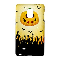 Halloween Pumpkin Bat Party Night Ghost Galaxy Note Edge by Alisyart