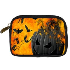 Halloween Pumpkin Bat Ghost Orange Black Smile Digital Camera Cases by Alisyart