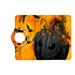 Halloween Pumpkin Bat Ghost Orange Black Smile Kindle Fire Hd (2013) Flip 360 Case by Alisyart