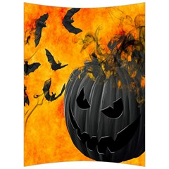 Halloween Pumpkin Bat Ghost Orange Black Smile Back Support Cushion by Alisyart