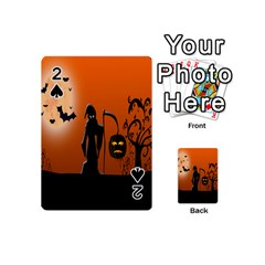 Halloween Sinister Night Moon Bats Playing Cards 54 (mini)  by Alisyart