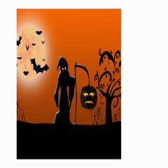 Halloween Sinister Night Moon Bats Small Garden Flag (two Sides) by Alisyart