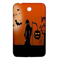 Halloween Sinister Night Moon Bats Samsung Galaxy Tab 3 (7 ) P3200 Hardshell Case  by Alisyart