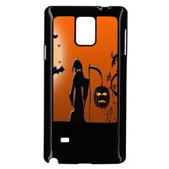 Halloween Sinister Night Moon Bats Samsung Galaxy Note 4 Case (black) by Alisyart