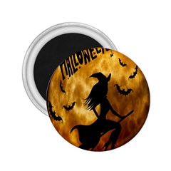 Halloween Wicked Witch Bat Moon Night 2 25  Magnets by Alisyart