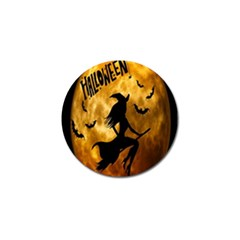 Halloween Wicked Witch Bat Moon Night Golf Ball Marker (10 Pack) by Alisyart