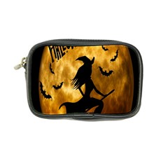Halloween Wicked Witch Bat Moon Night Coin Purse by Alisyart