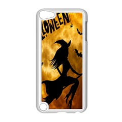 Halloween Wicked Witch Bat Moon Night Apple Ipod Touch 5 Case (white) by Alisyart