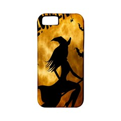 Halloween Wicked Witch Bat Moon Night Apple Iphone 5 Classic Hardshell Case (pc+silicone) by Alisyart