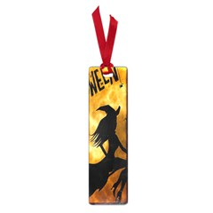 Halloween Wicked Witch Bat Moon Night Small Book Marks by Alisyart