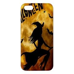Halloween Wicked Witch Bat Moon Night Iphone 5s/ Se Premium Hardshell Case by Alisyart