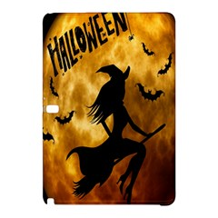 Halloween Wicked Witch Bat Moon Night Samsung Galaxy Tab Pro 12 2 Hardshell Case by Alisyart